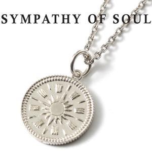 シンパシーオブソウル ネックレス  SYMPATHY OF SOUL Medium Hope Sun Coin Charm Silver × Chain 1.6mm 太陽 ミディアム ホープ サン コイン  チェーンセット charger