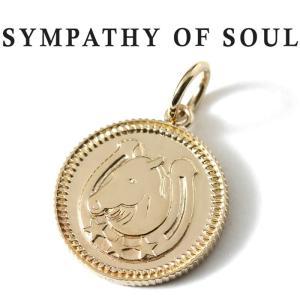 シンパシーオブソウル ネックレス ゴールド SYMPATHY OF SOUL Medium Ever Fortune Coin Charm K10YG ミディアム エヴァー フォーチュン コイン K10 ゴールド charger