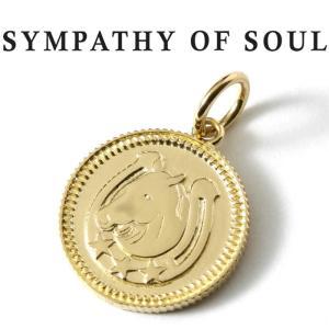 シンパシーオブソウル ネックレス ゴールド SYMPATHY OF SOUL Medium Ever Fortune Coin Charm K18YG ミディアム エヴァー フォーチュン コイン K18 ゴールド|charger
