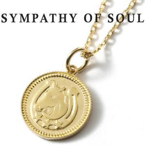 シンパシーオブソウル ネックレス SYMPATHY OF SOUL Medium Ever Fortune Coin K18YG × Chain 1.3mm 馬蹄 ミディアム エヴァー フォーチュン コイン K18 セット|charger