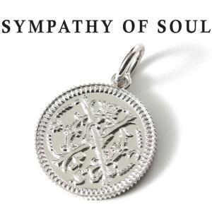 シンパシーオブソウル ネックレス シルバー SYMPATHY OF SOUL Medium Bless Coin Charm Silver ミディアム ブレス コイン チャーム シルバー|charger