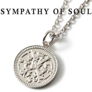 シンパシーオブソウル ネックレス  SYMPATHY OF SOUL Medium Bless Coin Charm Silver × Chain 1.6mm  無限 ミディアム ブレス コイン チャーム チェーンセット charger