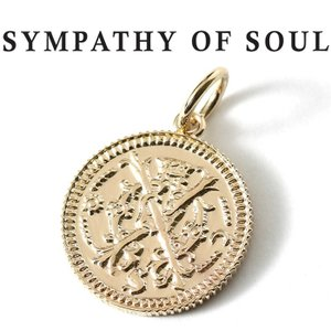 シンパシーオブソウル ネックレス ゴールド SYMPATHY OF SOUL Medium Bless Coin Charm K10YG ミディアム ブレス コイン チャーム K10 イエローゴールド|charger