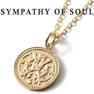 シンパシーオブソウル ネックレス SYMPATHY OF SOUL Medium Bless Coin K10YG × Chain 1.3mm 無限 ミディアム ブレス コイン チャーム  K10 チェーンセット charger