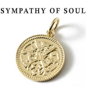 シンパシーオブソウル ネックレス ゴールド SYMPATHY OF SOUL Medium Bless Coin Charm K18YG ミディアム ブレス コイン チャーム K18 イエローゴールド|charger