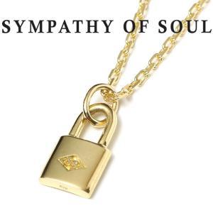シンパシーオブソウル ネックレス ゴールド SYMPATHY OF SOUL Small Key Charm K18YG ×1.3mm Chain  スモール キー 錠前 チェーン K18 ゴールド 1.3mm セット|charger