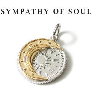 シンパシーオブソウル ネックレス SYMPATHY OF SOUL Eclipse Coin Pendant Silver エクリプス コイン ペンダント シルバー|charger