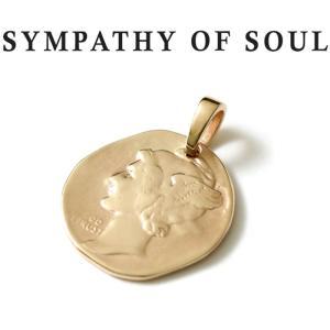 シンパシーオブソウル ネックレス ゴールド SYMPATHY OF SOUL Liberty Head Pendant K10YG リバティーヘッドペンダント K10イエローゴールド|charger