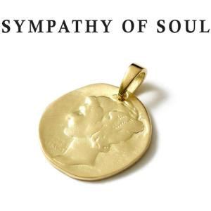 シンパシーオブソウル ネックレス ゴールド SYMPATHY OF SOUL Liberty Head Pendant K18YG リバティーヘッドペンダント K18イエローゴールド|charger