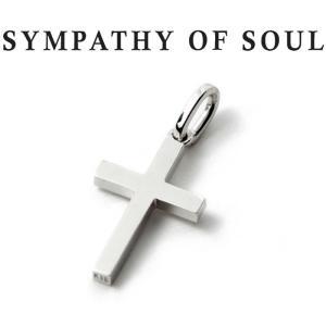 シンパシーオブソウル ネックレス SYMPATHY OF SOUL Simple Cross Pendant Small K18WG シンプル クロス ペンダント スモール K18ホワイトゴールド|charger