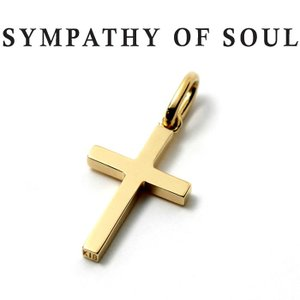 シンパシーオブソウル ネックレス SYMPATHY OF SOUL Simple Cross Pendant Small K18YG シンプル クロス ペンダント スモール K18イエローゴールド|charger