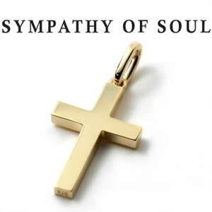 シンパシーオブソウル ネックレス SYMPATHY OF SOUL Simple Cross Pendant Medium K18YG シンプル クロス ペンダント ミディアム K18イエローゴールド|charger