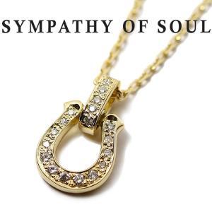 シンパシーオブソウル ネックレス SYMPATHY OF SOUL Horseshoe Amulet Pendant バチカン フルダイヤモンド 記念モデル K18YG Diamond × Chain 1.3mm ネックレス|charger