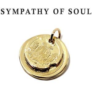 シンパシーオブソウル ペンダント SYMPATHY OF SOUL B.C Coin Pendant Good Luck Hope Sun K18Yellow Gold B.C コイン  グッドラック K18YG|charger