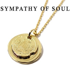 シンパシーオブソウル ネックレス SYMPATHY OF SOUL B.C Coin Pendant Good Luck Hope Sun K18YG × Chain 1.3mm B.C コイン グッドラック  K18YG|charger