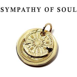 シンパシーオブソウル ペンダント SYMPATHY OF SOUL B.C Coin Pendant Hope Sun Bless K18Yellow Gold B.C コイン  ホープサン K18YG|charger