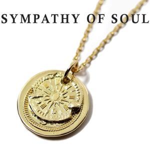 シンパシーオブソウル ネックレス SYMPATHY OF SOUL B.C Coin Pendant Hope Sun Bless K18YG × Chain 1.3mm B.C コイン  ホープサン  K18YG|charger