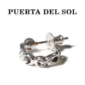 PUERTA DEL SOL プエルタデルソル ピアス フープピアス SILVER シルバー|charger