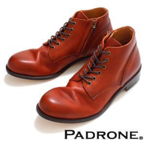 PADRONE パドローネ 再入荷完了 IN ZIP CHUKKA BOOTS CAMEL インジップ チャッカーブーツ キャメル|charger