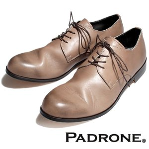 PADRONE パドローネ DERBY PLAIN TOE SHOES  ASH GREY ダービー プレーントゥシューズ アッシュグレー|charger