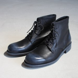 PADRONE パドローネ  LACE UP BOOTS HIGH STANDARD レースアップブーツ ハイスタンダード BLACK ブラック|charger
