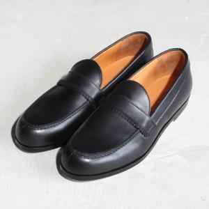 パドローネ 靴 PADRONE ピンキング ローファー  PINKING LOAFERS 革靴 BLACK ブラック 2019春夏 新作|charger