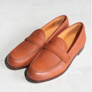 パドローネ 靴 PADRONE ピンキング ローファー  PINKING LOAFERS 革靴 CAMEL キャメル 2019春夏 新作|charger