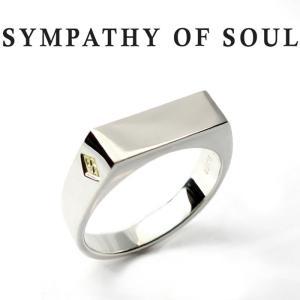シンパシーオブソウル リング SYMPATHY OF SOUL Signet Ring Rectangle Silver シグネットリング レクタングル シルバー|charger