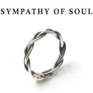 シンパシーオブソウル リング SYMPATHY OF SOUL Woven Ring Silver ウーヴンリング シルバー|charger
