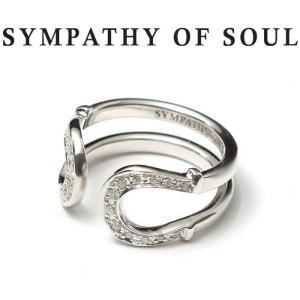 シンパシーオブソウル 指輪 SYMPATHY OF SOUL Double Horseshoe Ring Silver w/CZ ダブル ホースシュー リング シルバー ジルコニア|charger