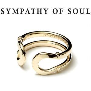 シンパシーオブソウル 指輪 SYMPATHY OF SOUL Double Horseshoe Ring K10Yellow Gold ダブル ホースシュー リング K10 イエローゴールド|charger
