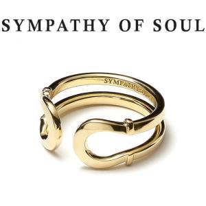 シンパシーオブソウル 指輪 SYMPATHY OF SOUL Double Horseshoe Ring K18Yellow Gold ダブル ホースシュー リング K18 イエローゴールド|charger