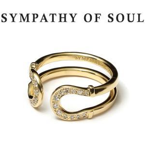 シンパシーオブソウル 指輪 SYMPATHY OF SOUL Double Horseshoe Ring K18Yellow Gold w/Diamond ダブル ホースシュー リング K18 イエローゴールド ダイヤモンド|charger