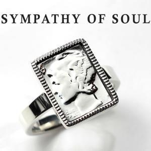 シンパシーオブソウル リング SYMPATHY OF SOUL Liberty Head Ring Silver リバティーヘッド リング シルバー|charger