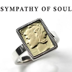シンパシーオブソウル リング SYMPATHY OF SOUL Liberty Head Ring Silver Brass リバティーヘッド リング シルバー 真鍮|charger