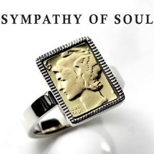 シンパシーオブソウル リング SYMPATHY OF SOUL Liberty Head Ring Silver K18 Yellow Gold リバティーヘッド リング シルバー K18 イエロー ゴールド|charger