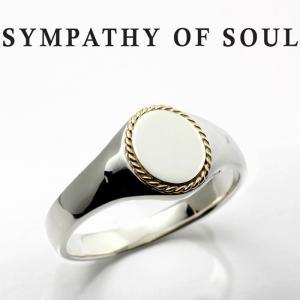 シンパシーオブソウル リング SYMPATHY OF SOUL Signet Rope Ring Silver K18Yellow Gold シグネット ロープ リング シルバー K18イエローゴールド|charger