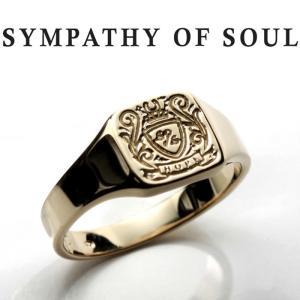 シンパシーオブソウル リング SYMPATHY OF SOUL Small Signature Ring K10Yellow Gold スモール シグネーチャー リング K10イエローゴールド|charger
