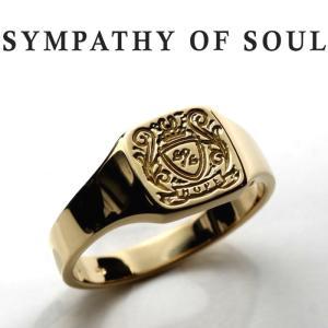シンパシーオブソウル リング SYMPATHY OF SOUL Small Signature Ring K18Yellow Gold スモール シグネーチャー リング K18イエローゴールド|charger