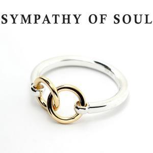 シンパシーオブソウル リング SYMPATHY OF SOUL Unity Double Ring SILVER K18YG ユニティー ダブル リング シルバー K18 イエローゴールド charger