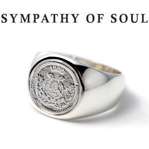 シンパシーオブソウル 指輪 SYMPATHY OF SOUL Classic Coin Ring Good Luck Silver クラシック コイン リング グッドラック シルバー|charger
