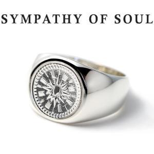 シンパシーオブソウル 指輪 SYMPATHY OF SOUL Classic Coin Ring Hope Sun Silver クラシック コイン リング シルバー|charger