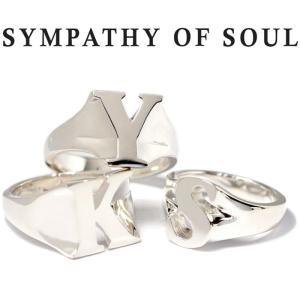 シンパシーオブソウル リング SYMPATHY OF SOUL Initial Ring Silver イニシャル リング シルバー アルファベット|charger