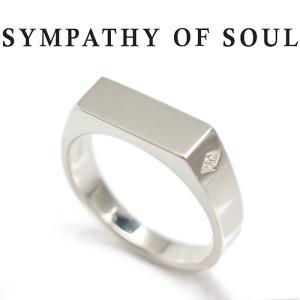 シンパシーオブソウル リング SYMPATHY OF SOUL シグネットリング シルバー Signet Ring -Rectangle Silver|charger
