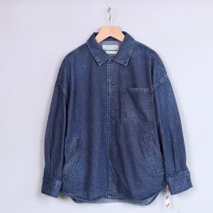 レミレリーフ シャツ REMI RELIEF デニム ワイドシャツ BLUE ブルー2019秋冬新作|charger
