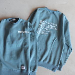 ロットワイラー スウェット ROTTWEILER R・Wクルーネックスウェット R・W Sweater ブルー BLUE 2020秋冬新作|charger
