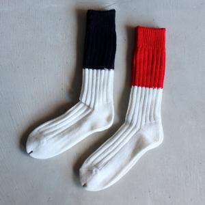 ロットワイラー 靴下 ROTTWEILER パイルラインソックス Pile Line Socks ブラック/レッド 2色展開 2020秋冬新作|charger