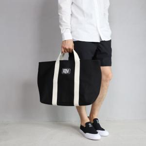 ロットワイラー バッグ ROTTWEILER キャンバス トートバッグ ラージ ブラック Canvas Tote Bag Large Black 2019春夏新作|charger