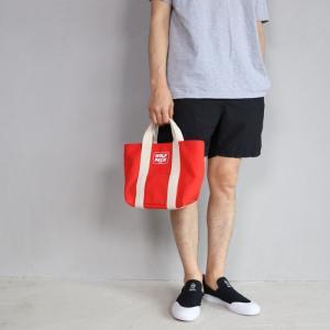 ロットワイラー バッグ ROTTWEILER キャンバス トートバッグ スモール レッド Canvas Tote Bag Small Red 2019春夏新作|charger