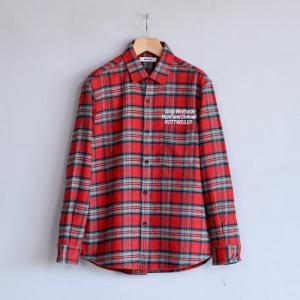 ロットワイラー シャツ ROTTWEILER チェック レギュラーカラー ロングスリーブシャツ レッド Check Regular Collar LS Shirt RED 2019秋冬新作|charger
